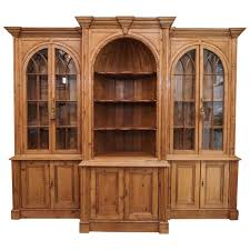 antique english pine breakfront bookcase for sale at 1stdibs