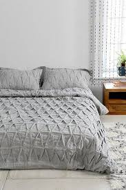 and bow grey pinch pleat duvet cover
