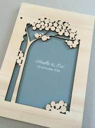 wedding guest book photo album custom woodcut wedding guest book album tree of with