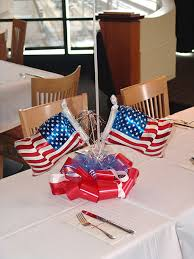 red white blue centerpieces balloons in denver