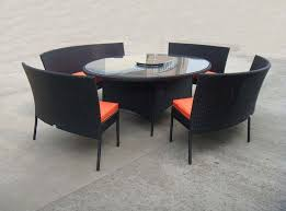Black Patio Chairs by Outdoor 4 Plastic Outdoor Patio Chairs With Round Table Picture