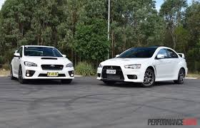 car mitsubishi evo 2016 mitsubishi lancer evolution vs subaru wrx sti comparison