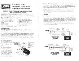 wiring a self parking windscreen wiper dc motor
