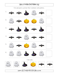 halloween math not so scary halloween picture patterns with shape attribute only a
