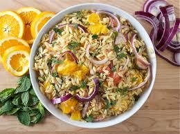 recipes for pasta salad citrus herb orzo salad