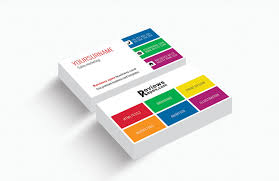 modern white corporate business card template free