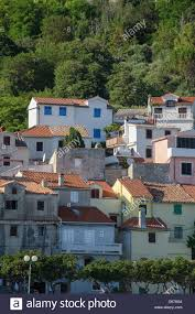 Mediterranean Houses by Baska Town On The Croatian Island Krk In The Mediterranean Houses