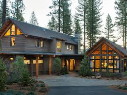 modern mountain architecture hgtv cabin and stone driveway