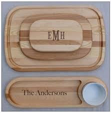 monogrammed serving tray monogrammed wooden cutting board