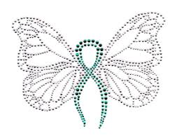 teal ribbons s7189 teal teal ribbon butterfly isaacs designs