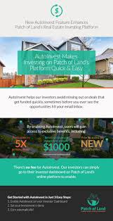 new autoinvest feature enhances patch of land real estate