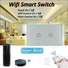 touch screen wall light switch 2 gang led wifi smart panel touch screen wall light switch alexa