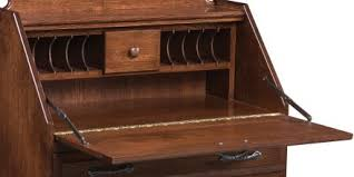 solid wood secretary desks countryside amish furniture