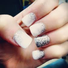 nails prom nails faded white to silver health pinterest