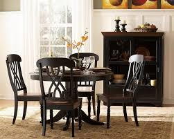 dining room sets with leaf kitchen ideas black dinette tables modern black dining table round