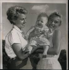 1955 press photo golfer marlene hagge bauer heidi hagge alice