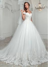 a line wedding dress buy discount modest tulle the shoulder neckline a line wedding