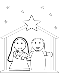 Christmas Nativity Scene Coloring Page Free Printable Coloring Pages Free Printable Nativity Coloring Pages