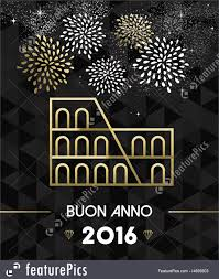 holidays new year 2016 rome colosseum travel gold stock