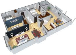 Duplex Home Design Plans 3d Floor Plans For Doll House House And Home Design