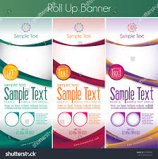 Different Color Schemes Multipurpose Roll Banner This Template Available Stock Vector