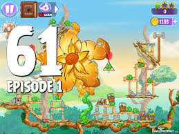 angry birds stella level 61 giant gold flower episode 1