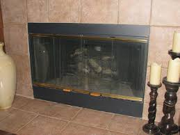 Cleaning Glass On Fireplace Doors by Fireplace Brass Trim Can Be Painted To Get An Instant Living Room
