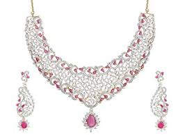 zircon necklace sets images Buy swasti jewels american diamond cz zircon pink gold plated jpg