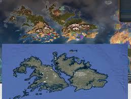 Upside Down World Map My Random New World Was The Falkland Islands Upside Down Eu4