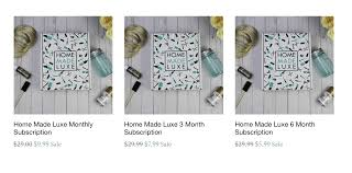 home made luxe cyber monday sale hello subscription