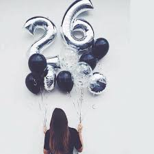 silver balloons 12pcs large size silver number 26 18inch foil balloons black