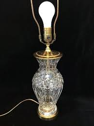 waterford crystal l base waterford table ls vintage cut crystal vase table l w brass