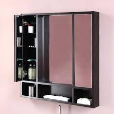 triple mirrored bathroom cabinet white dwell rotating wall