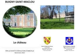 maclou siege social château de buigny maclou societe d emulation d abbeville