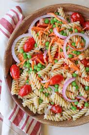 pasta salad with lemon poppy seed dressing the roasted root