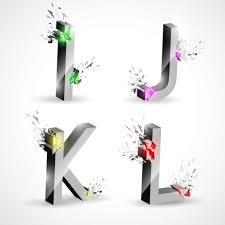 buchstaben design vier alphabet buchstaben design der kostenlosen vektor