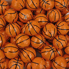 Basketball Centerpieces Foil Wrapped Basketballs 10 Lbs Wrapped Chocolate Bulk
