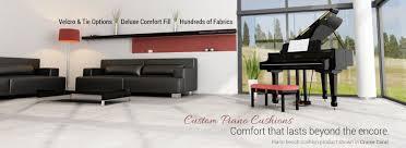 custom piano bench cushions
