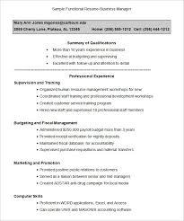 Resume Template Pdf Free Functional Resume Template Resume Template And Professional