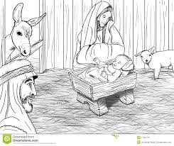 baby jesus manger coloring pages
