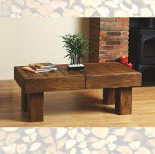 Oak Side Table Solid Beam Aged Oak Coffee Side Table Rustic Farm House