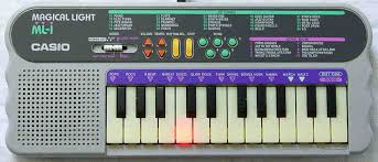 piano keyboard with light up keys casio magical light ml 1