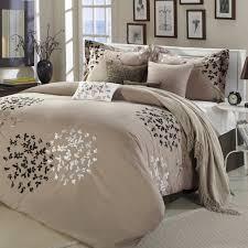 Ruffled Comforter Taupe Comforter Sets Queen