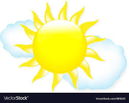 sun with clouds royalty free vector image vectorstock