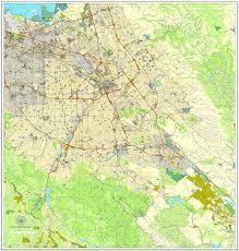 california map pdf san jose california us printable vector map city plan v