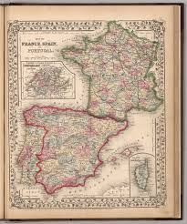 Map Of Spain And Portugal Map Of France Spain And Portugal David Rumsey Historical Map