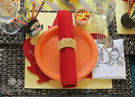 thanksgiving table setting with paper plates my web value