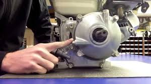 how to fill the engine and gearbox on a honda gx120 and gx160