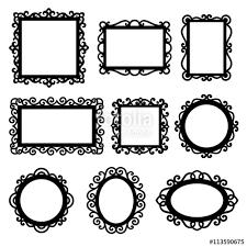 set of decorative vintage frames for your design ornamental frame