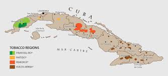 Cuban Map Tobacco Paradise Habanos S A Sitio Oficial